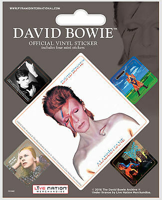 Bowie, David - Album Covers Stickerset Set 5 Sticker Aufkleber - ca. 10x12,5 cm