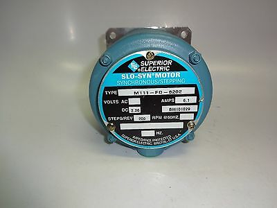 Superior Electric Slo-Syn Synchronous Stepping Motor M111-Fd-8202