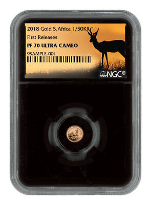 2018 South Africa 1/50 oz. Gold Krugerrand NGC PF70 UC FR Black Core SKU54390
