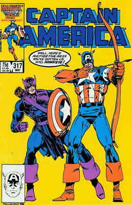 Captain America (1st Series) #317 VF/NM; Marvel   save on shipping - details ins