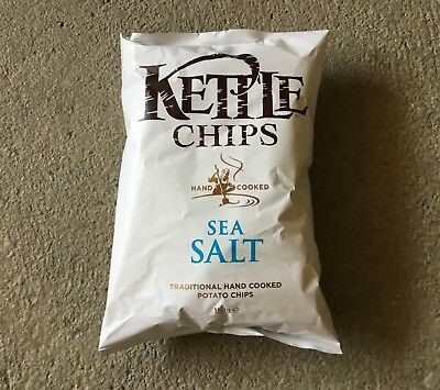 A# 10 x 150g Tüte Kettle Chips  - Sea Salt - MHD 07/04/18