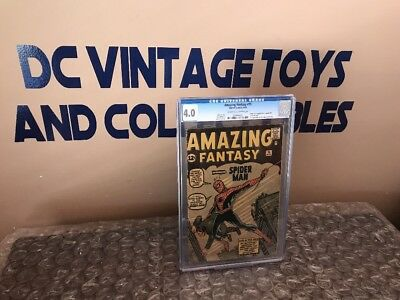 Amazing Fantasy #15 CGC 4.0 1st Spider-Man! Silver Age Grail! No Marvel Chipping