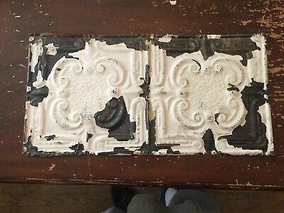 "Antique Tin Ceiling Ceiling Tile Fleur De Lis Pattern 12"" by 24"" J"