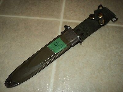 US MILITARY ISSUE Vietnam Era Bayonet Scabbard USM8A1 VIZ