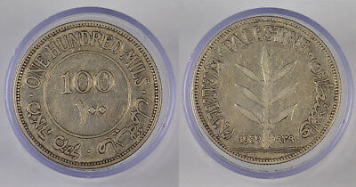 1939 British Palestine Silver 100 Mils Coin !! Awesome Coin !! Low Mintage !!