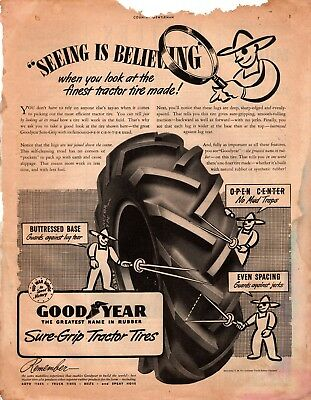 1943 Country Gentleman Magazine Advertisement Goodyear 1 Page A384