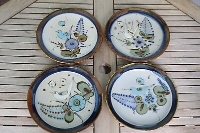Ken Edwards Tonala Pottery Hand Paint Dinner Plate (s) Mexico Bird Buy 1 or More