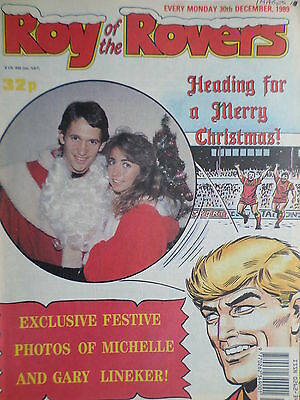 Roy of the Rovers 30/12/89 old football all usual storys gary lineker rangers