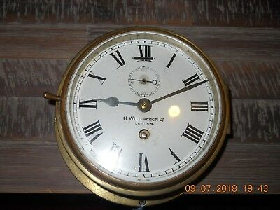An good example of a brass ships clock by H.Williamson, London (Smiths)