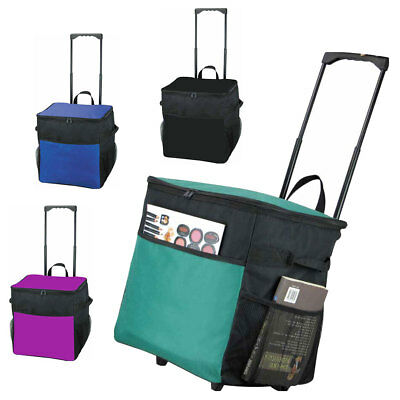 Extra Large Picnic Roller Cooler Trolley Bag Telescopic Handle Travel Cool Ice