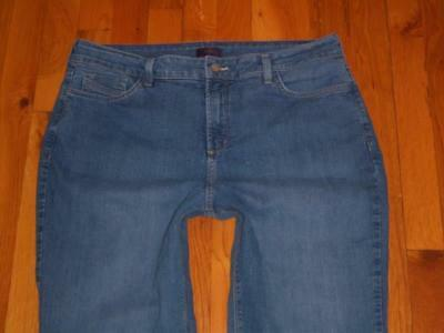 Womens NYDJ Not Your Daughters Straight Leg Stretch Jeans 16 Measures 35x31.5