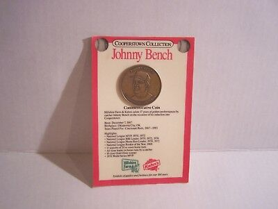 1989 Johnny Bench HOF Coin Cooperstown Collection Commemorative Kahn's Hillshire