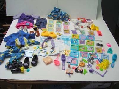 Large Lot for Playmates AMAZING ALLY Interactive Doll, Clothes, Cartridges, Accs