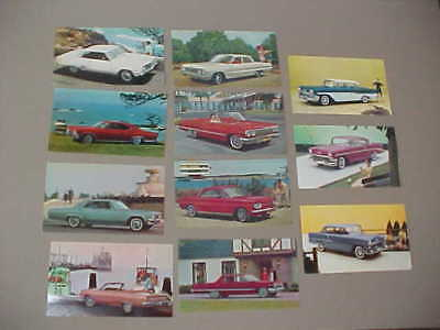 Lot Of 11 Vintage Chevrolet Postcards (From Chevrolet) 1955-56-58-63-65