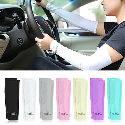 Men Women Cooling Arm Sleeves Cover UV Sun Protection Basketball Golf Sport new