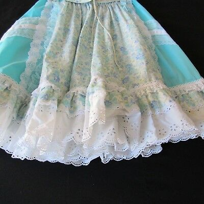 Blue Square Dance Skirt Sold By Fun & Fancy M Vintage Lace Eyelet