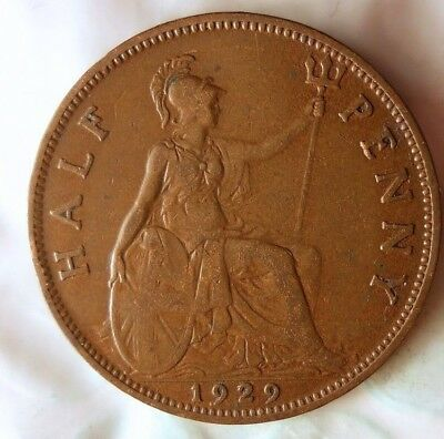 1929 GREAT BRITAIN 1/2 PENNY - Collectible Coin - FREE SHIP - Britain Bin K