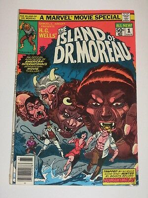 Marvel Movie Special The Island Of Dr. Moreau 1 1977 Unread High Grade H.G.Wells