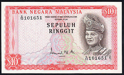 Malaysia 10 Ringgit $10  ND (1972-76) P.9a  UNC Note Rare C/52
