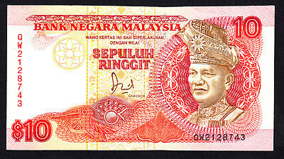 Malaysia 10 Ringgit ND 1989  P. 29  VF+ Note