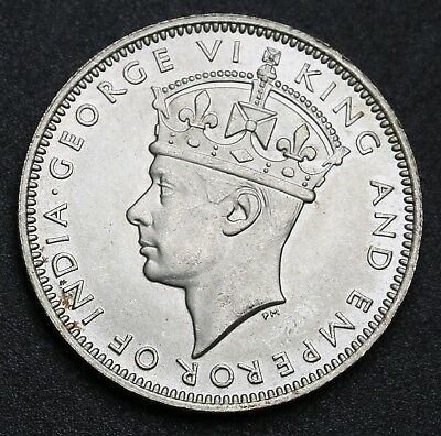 1945 Malaya 20 Cents KM# 5a Silver Coin George VI UNC +Lustre
