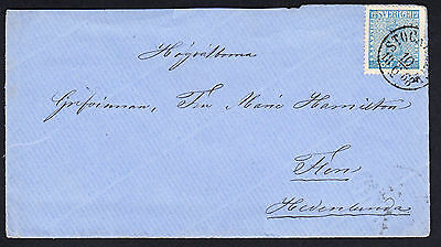 Sweden Cover 10.6. 1868 From Stockholm Fixed With 12 Ore Blue SG 8a