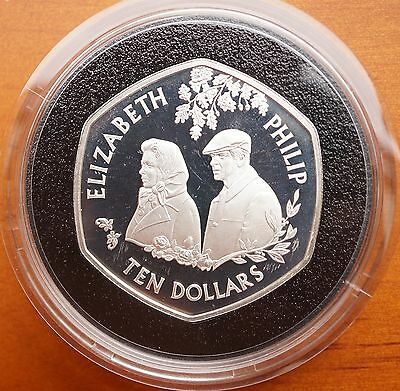 East Caribbean States 2007 Silver Proof $10 Coin Crown Diamond Wedding North & Central America