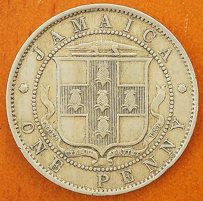 North & Central America 1906 Jamaica Penny Km# 23 King Edward Vii Coin Low Mintage Fashionable Patterns