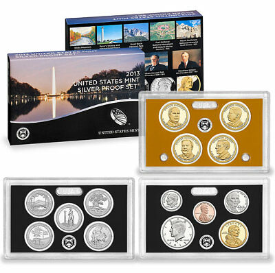 2013 S US Mint Silver Proof 14 Coin Set - GEM FDC Coins