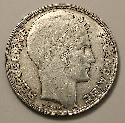 1933 France 20 Francs KM# 879 Silver Coin
