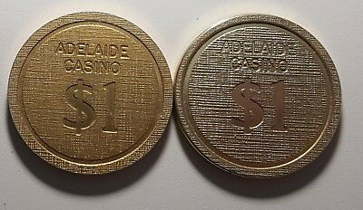 Adelaide Casino Vintage $1 Chips - Thick and Thin - Tw Varieties