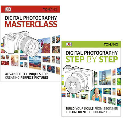 Digital photography Masterclass Step by Step 3 Collection Books Set NEW