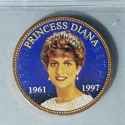 Princess Diana Colorized Commemorative British Penny UK English Royalty Britain