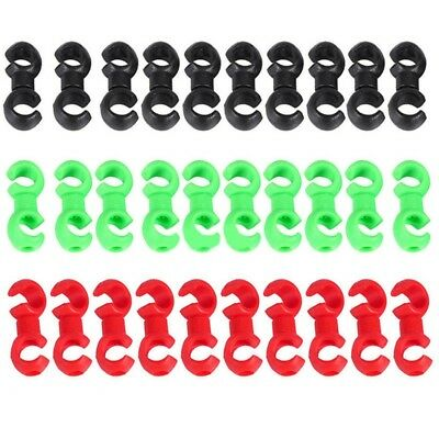 10Pcs Lot Cycle Bike Bicycle MTB Brake Gear Cable S Clips House Hose Guides US