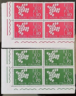 Italy 1961 Sc # 845 to Sc # 846 MNH Blocks Europa Stamps