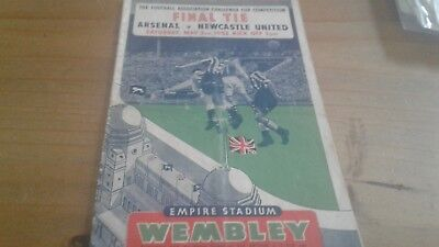Arsenal v Newcastle United FA Cup Final Football Programme 3/5/1952.