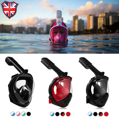 LEUCOTHEA New Adult Kid Full Face Swimming Goggle Diving Mask Scuba Snorkel Pipe