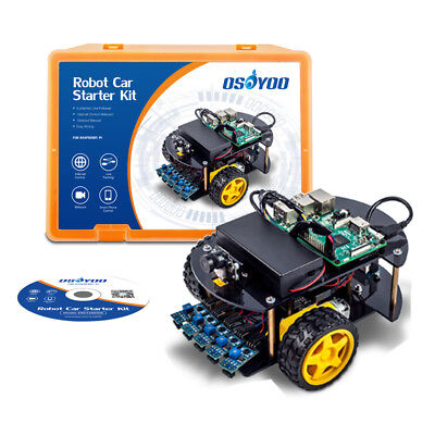 OSOYOO Smart Robot Car Kit Learning Kit for Raspberry Pi | Model 3B, 2B, B+