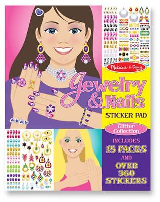 Melissa & Doug JEWELLERY & NAILS STICKER PAD Creative Toys Games - NEW