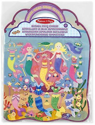 Melissa & Doug REUSABLE PUFFY STICKERS - MERMAID Creative Toys Activities - NEW