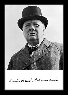 Collectors/Photograph/Print/Winston Churchill/UK Prime Minister/Signed Photo