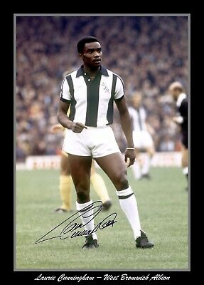 Photograph/Print/Laurie Cunningham/West Bromwich Albion/WBA/Signed Photo