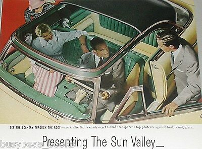 1954 MERCURY advertisement, Sun Valley model with Clear Roof, color photos