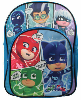 Boys PJ Masks Backpack with Front Pocket Blue Back to School 7 Litres