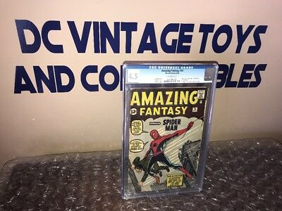 Amazing Fantasy #15 CGC 4.5 1st Spider-Man! Silver Age Grail! OFF-WHITE PAGES