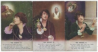 """BAMFORTH - """"THE ROSARY"""" Set of 3 Song Card Postcards  4878/1-3"""