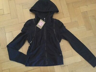NWT Juicy Couture New & Genuine Ladies Size Small Black Cotton Hoody With Logo