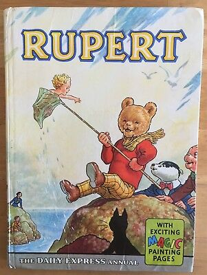 Rupert Annual 1963 Original Inscribed Not Price Clipped Magic Paintings Done