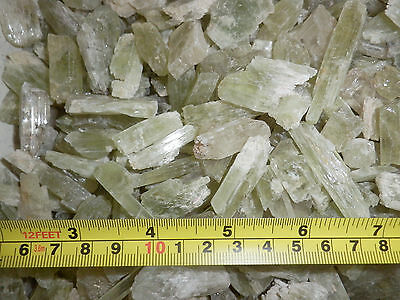 Kunzite Spodumene Crystal Stone all Green 1 to 10 gram small pieces 40 gram Lot