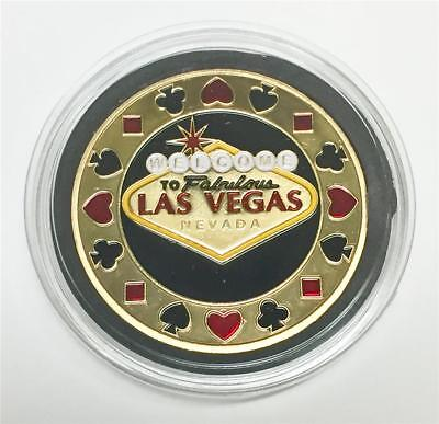 Welcome to Fabulous Las Vega, Hand Painted Poker Card Guard Protector  / New